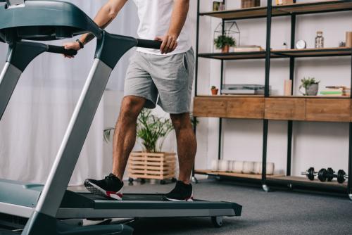 Man Workout on Treadmill