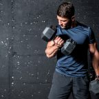 heavy dumbbell weight in the gym