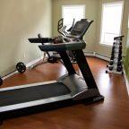 treadmill in a home gym