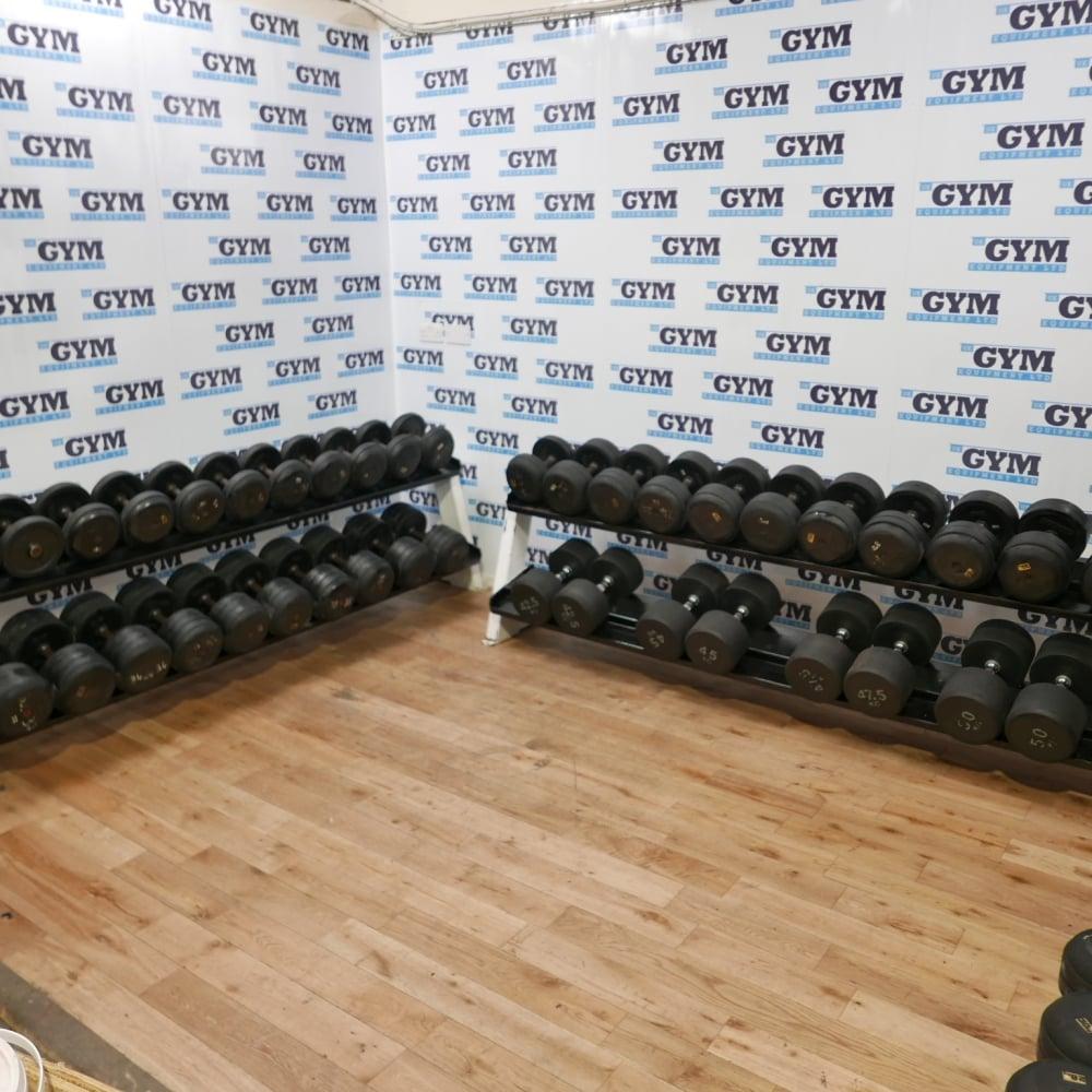 Ivanko Weight Rack: 50kg Set Of Used Ivanko Dumbbells & Racks