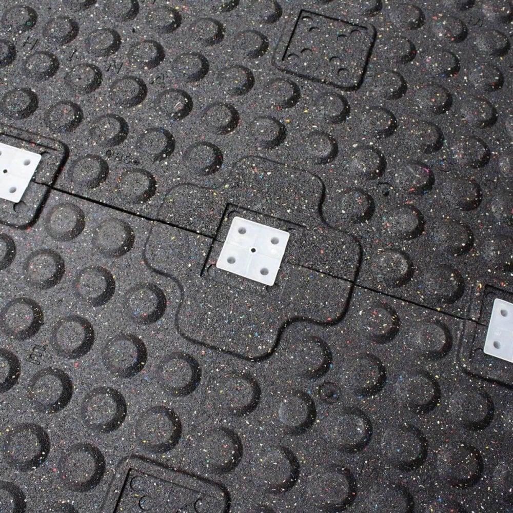 Rubber Gym Flooring Tile 100cm X 50cm