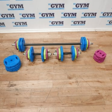 90kg Studio Rep Set & Dumbbell Package