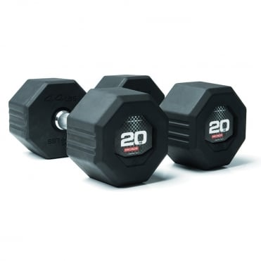 Octagon Rubber Dumbbells
