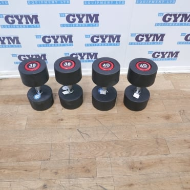 Pairs of 38kg & 40kg SBX Rubber Dumbbells