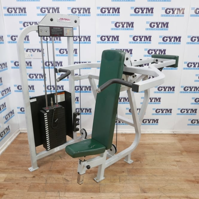 Life Fitness Used Pro Shoulder Press (Cream Frame)