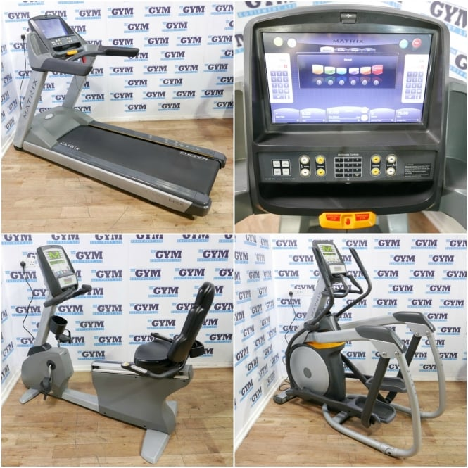 Matrix Fitness 3 Piece Refurbished 3x Cardio Package (Recumbent Bike)