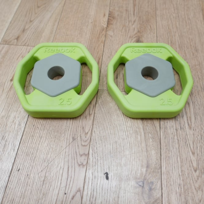 Pair of 2.5kg Rubber Rep Set Plates - Discontinued