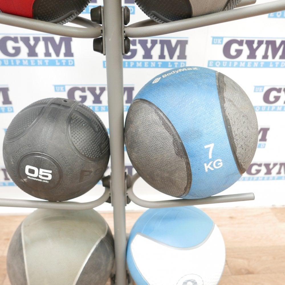 Set Of 10 Assorted Medicine Balls Rack 1 10kg Functional Gym Ball Grip Amp