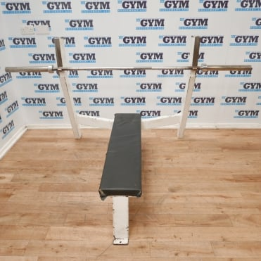 Used Flat Olympic Bench & 7ft Bar
