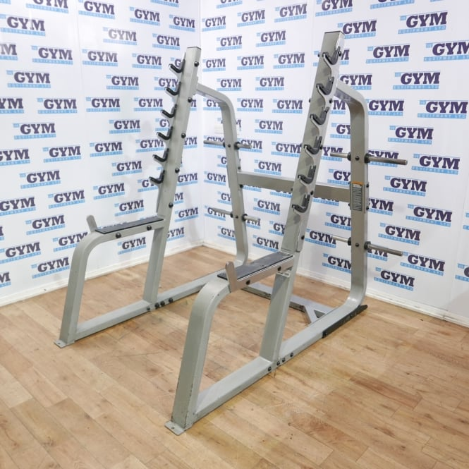 Used Icarian Squat Rack with Plate Storage