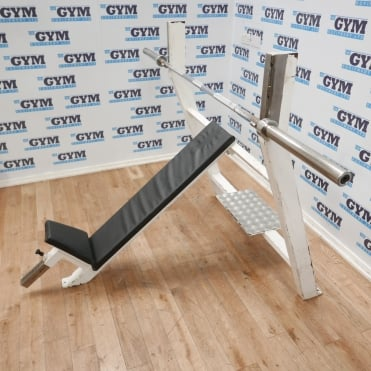 Used Incline Olympic Bench & 7ft Bar