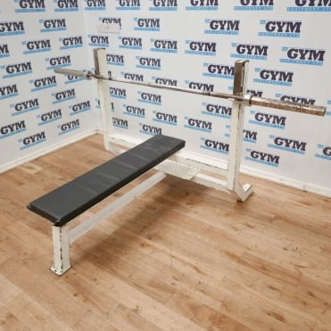 Used Sportesse Flat Olympic Bench & 7ft Bar